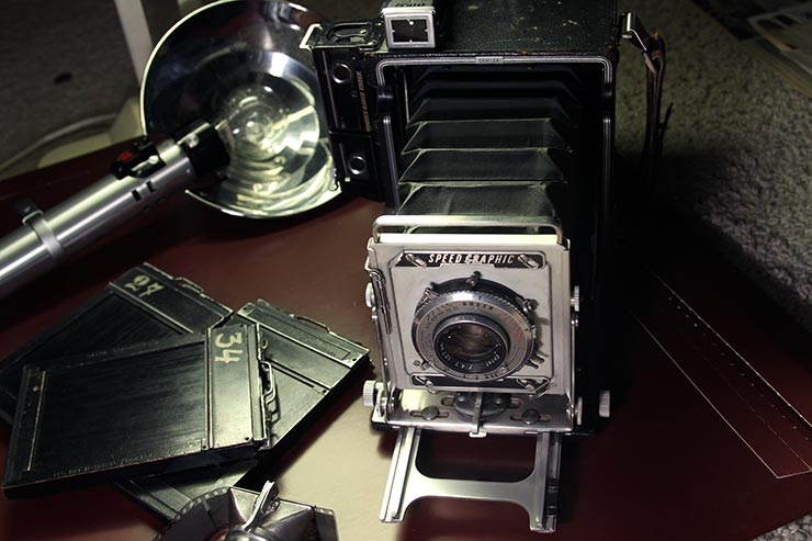 Khaldei's Speed Graphis Camera gifted by Robert Capa