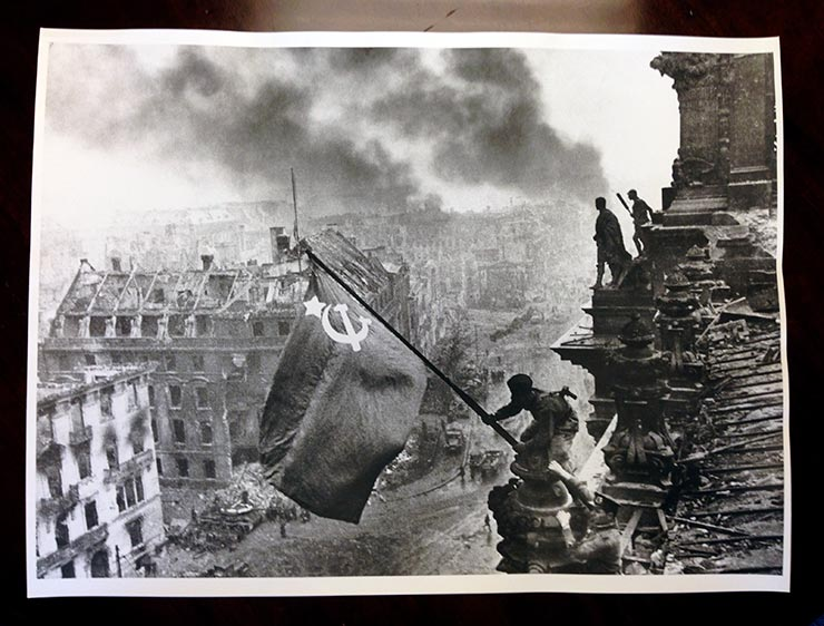 Raising the Soviet Flag over the Reichstag, Berlin, 1945